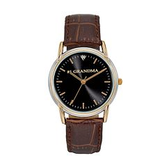 Women's '#1 Grandma' Leather Watch