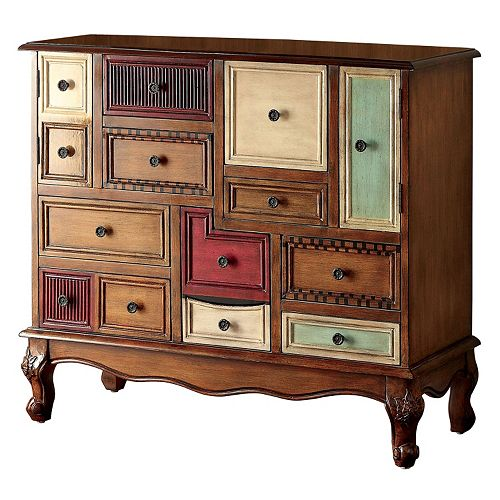 Venetian Worldwide Desree Multi-Colored Accent Cabinet