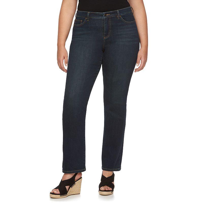 Plus Size Chaps Straight-Leg Jeans