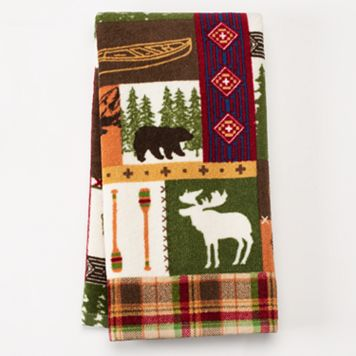 Celebrate Local Life Together Moose Grid Kitchen Towel