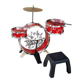Kiddy Jazz Drum Set & Stool by Ready Ace