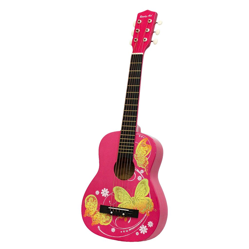 Ready Ace Pink Butterfly Acoustic Guitar
