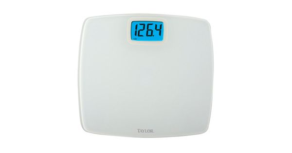 Taylor Deluxe Digital White Bath Scale