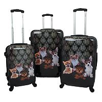 Chariot Doggies 3-Piece Hardside Spinner Luggage Set