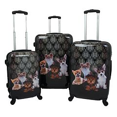 Chariot Doggies 3 pc Hardside Spinner Luggage Set