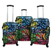 Chariot Glass 3 pc Hardside Spinner Luggage Set