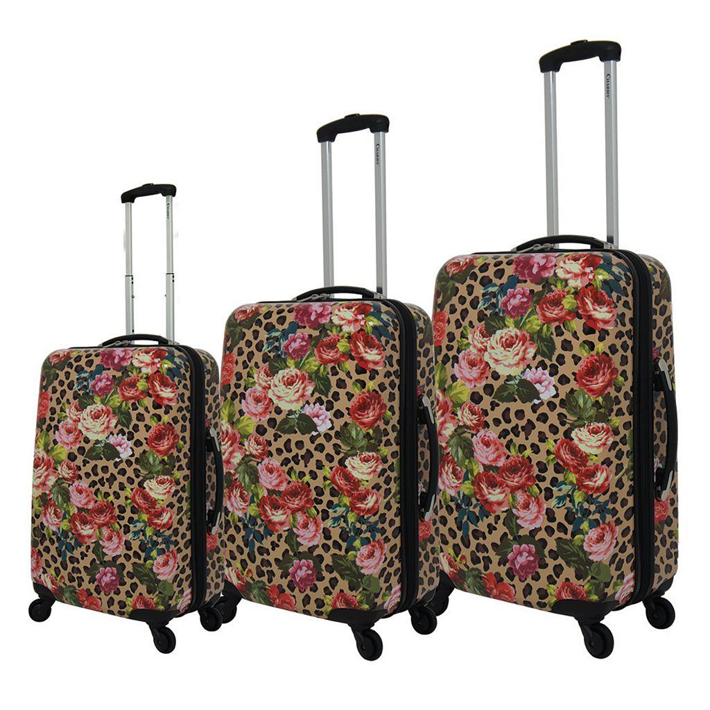 Chariot Leo Flower 3-Piece Hardside Spinner Luggage Set