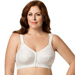 Elila Bra: Jacquard Front-Closure Wire-Free Full-Figure Bra 1515