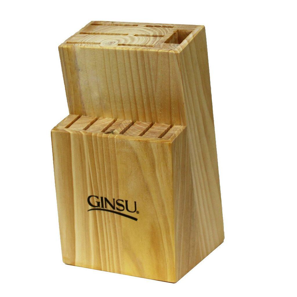 Ginsu 13-Slot Natural Wood Knife Block
