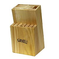 Ginsu 13-Slot Natural Wood Knife Block