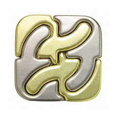 BePuzzled Hanayama Level 6 Cast Square Puzzle