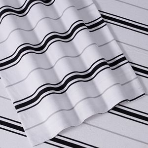 Striped Deep Pocket Flannel Sheet Set