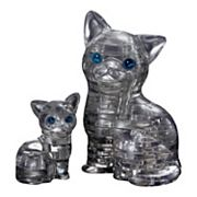 BePuzzled 49 pc Black Cat & Kitten 3D Crystal Puzzle
