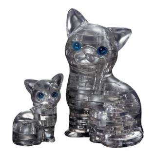 BePuzzled 49-pc. Black Cat & Kitten 3D Crystal Puzzle