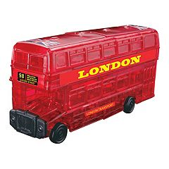 BePuzzled 53 pc London Bus 3D Crystal Puzzle