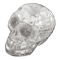 BePuzzled 48 pc Clear Skull 3D Crystal Puzzle