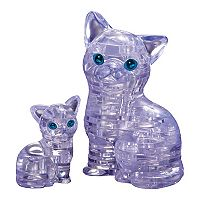 BePuzzled 49 pc Cat & Kitten 3D Crystal Puzzle