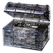BePuzzled 52 pc Black Treasure Chest 3D Crystal Puzzle