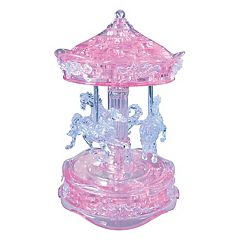 BePuzzled 83 pc Carousel 3D Crystal Puzzle