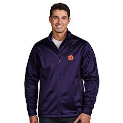 Men's Antigua Clemson Tigers Waterproof Golf Jacket