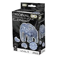 BePuzzled 40 pc Elephant 3D Crystal Puzzle