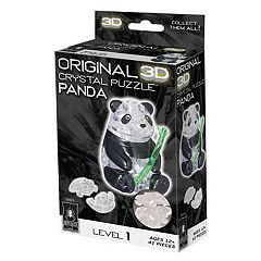 BePuzzled 41 pc Panda 3D Crystal Puzzle