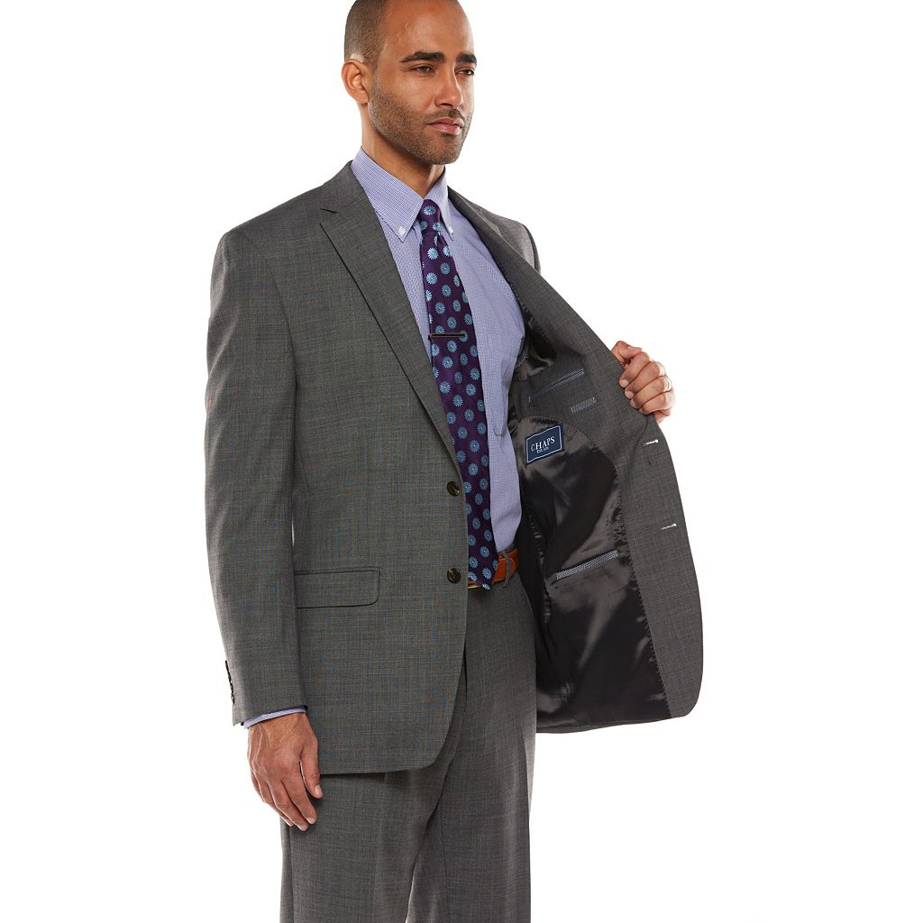 Men's Chaps Performance Classic-Fit Wool-Blend Comfort Stretch Suit Jacket