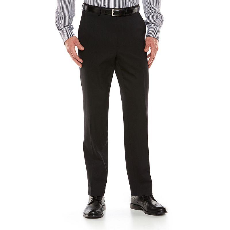 Men's Chaps Performance Classic-Fit Wool-Blend Comfort Stretch Flat-Front Suit Pants