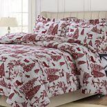 Printed Flannel 3-piece Duvet Cover Set