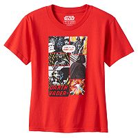 Toddler Boy Star Wars Darth Vader Comic Strip Graphic Tee