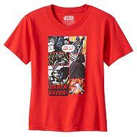 Toddler Boy Star Wars Darth Vader Comic Strip Graphic Tee