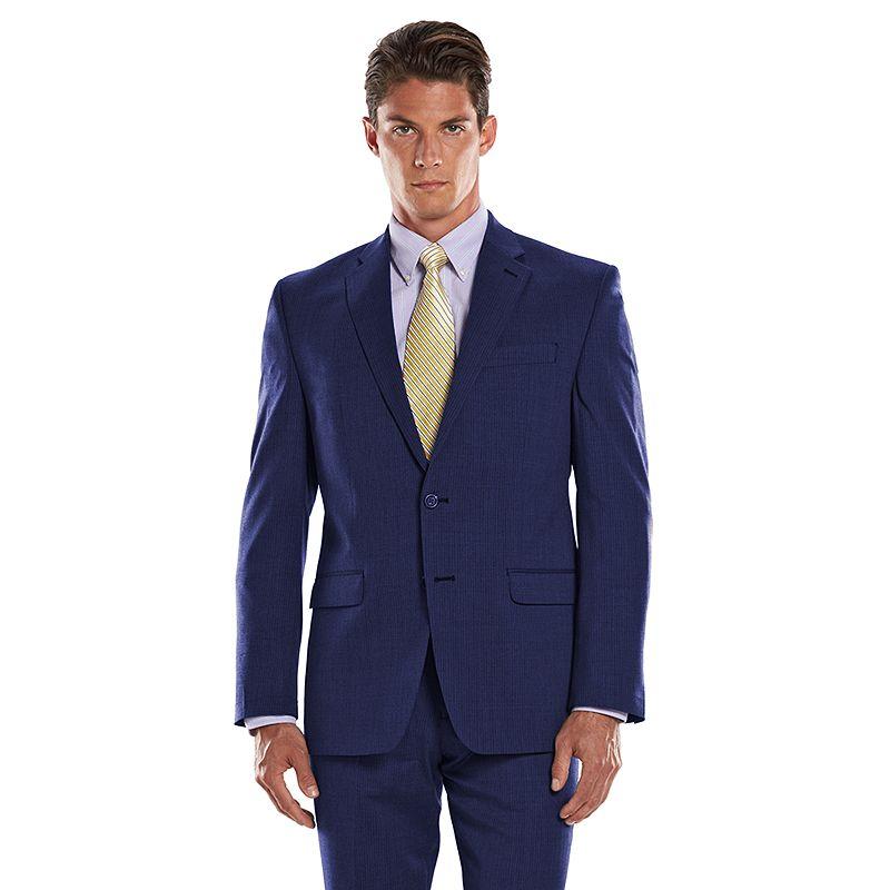 Men's Chaps Performance Classic-Fit Shadow Wool-Blend Comfort Stretch Suit Jacket