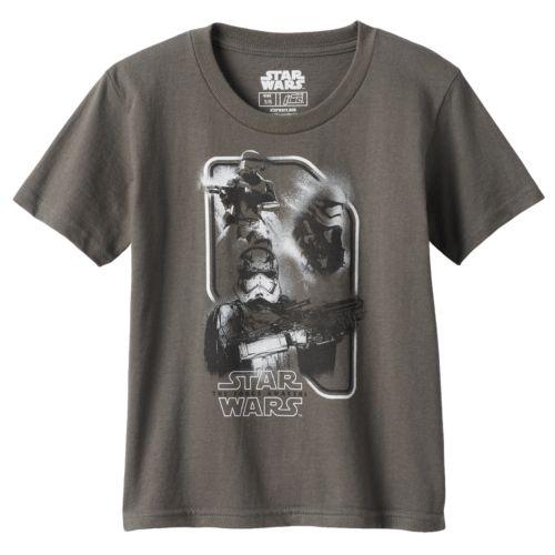 Toddler Boy Star Wars: Episode VII The Force Awakens Stormtrooper Gray Graphic Tee