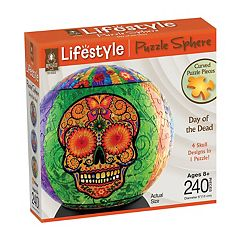 BePuzzled 240 pc Day of the Dead Lifestyle 3D Puzzle Sphere