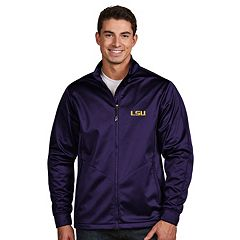 Men's Antigua LSU Tigers Waterproof Golf Jacket