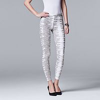 Simply Vera Vera Wang Women's Lizard Denim Leggings