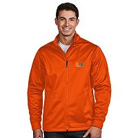 Men's Antigua Miami Hurricanes Waterproof Golf Jacket