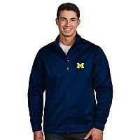 Men's Antigua Michigan Wolverines Waterproof Golf Jacket