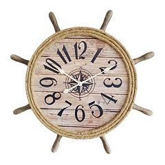 Ship Wheel Wall Clock