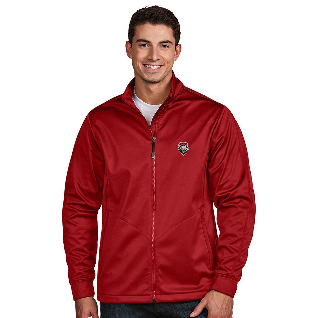 Men's Antigua New Mexico Lobos Waterproof Golf Jacket