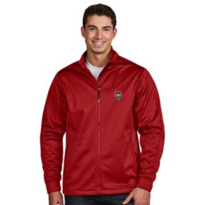 Men's Antigua New Mexico Lobos Waterproof Golf Jacket