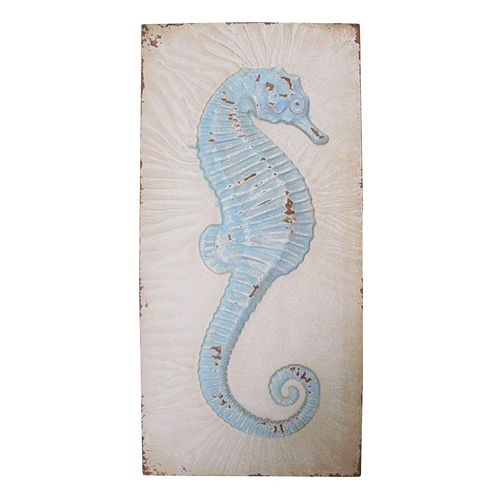 Distressed Seahorse Wall Decor