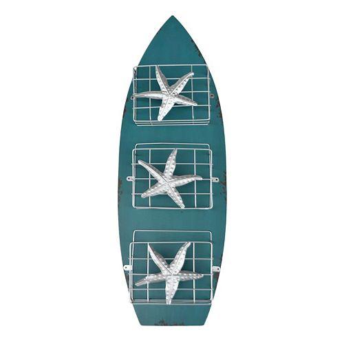 Surfboard 3-Basket Wall Decor