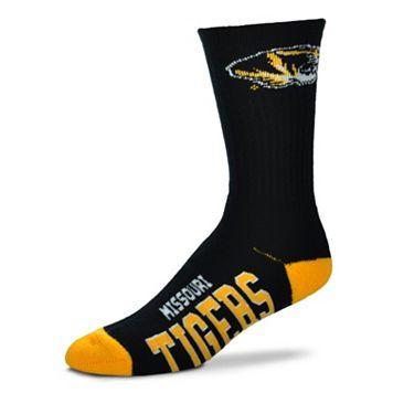 Adult For Bare Feet Missouri Tigers Team Color Crew Socks