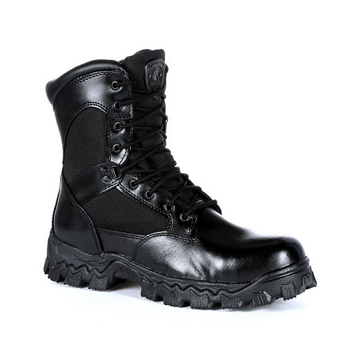 Rocky AlphaForce Men's Side-Zip Waterproof Work Boots