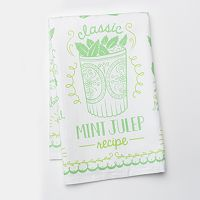 Celebrate Local Life Together Mint Julep Kitchen Towel