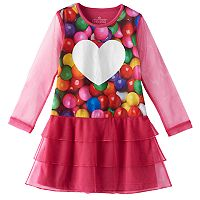 Girls 4-12 Chloe & Olivia Photoreal Gumball Tiered Nightgown