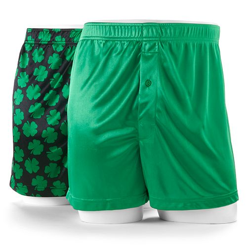 7fd0e1ad1c7f Men's Croft & Barrow® St. Patrick's Day Shamrock & Solid Microfiber ...