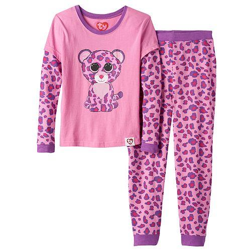 8f64b3629ef Girls 4-10 TY Beanie Boo s Glamour Thermal Mock-Layered Pajama Set