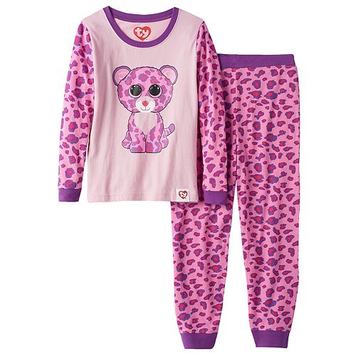05b10ee998a Girls 4-10 TY Beanie Boo s Glamour Pajama Set